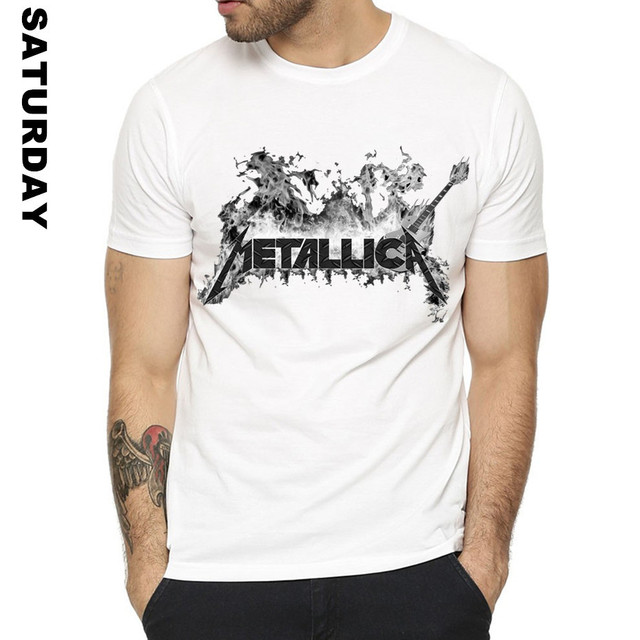 Heavy Metal Metallica Rocha Projeto Engraçado Camiseta para Homens e Mulheres, confortável Respirável Streewear Prémio Gráfico T-Shirt dos homens