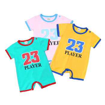 2019 Summer New Style Short Sleeve Girls Baby Romper Cotton letter number Newborn Body Suit Baby Pajama Boys clothes 0-2Y MBR258 1
