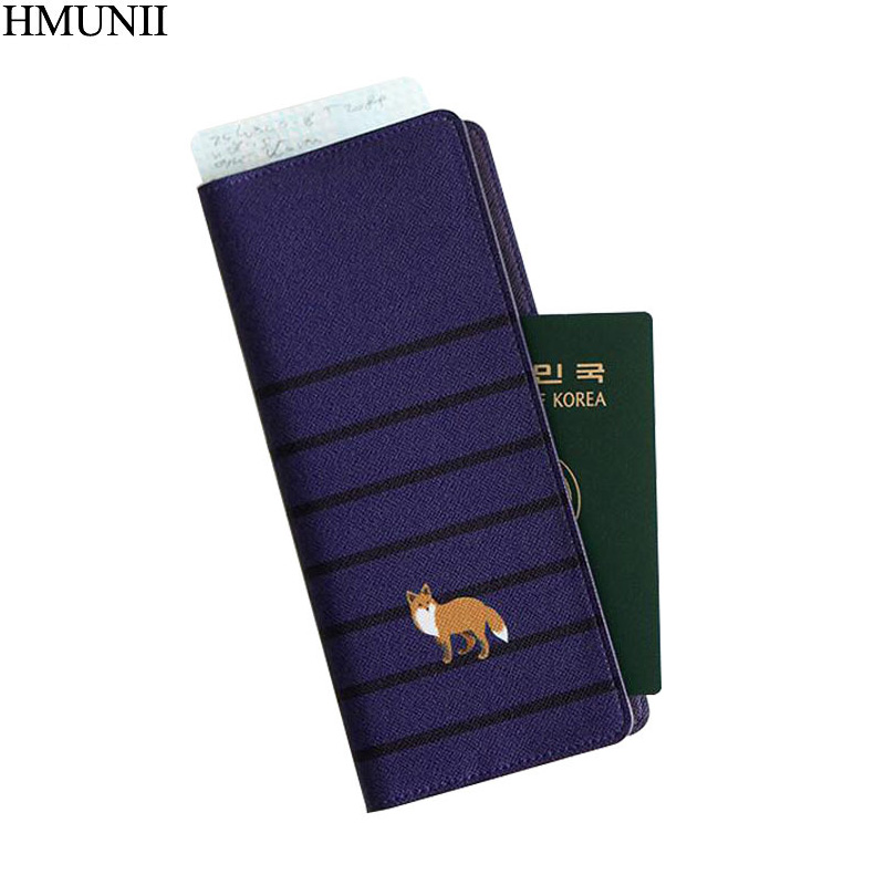 HMUNII Brand passport cover lovely small animals travel ID holder Long section passport  ...
