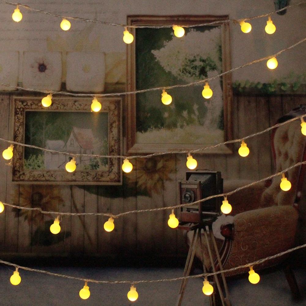 10 m 100 led string luz de fadas ao ar livre lâmpada 220 v plugue da ue à prova dwaterproof água guirlanda natal casa festa casamento decoração interior Fios de iluminação     - title=