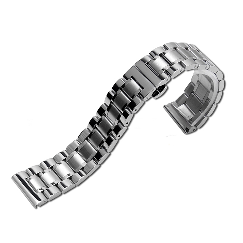 NESUN Free Shipping Stainless Steel Clasp Buckle Metal Watch Bracelets Wrist Strap For Citizen/Tissot/Seagull Watches