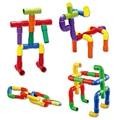 Дети Пластиковые Вставляется Развивающие Игрушки Туннель Водопровод Строительные Блоки Устанавливает Детский Сад Развивающие Игрушки для Детей