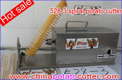 Wholesale Potato Spiral Cutting Machine Low Noise Curly Fry