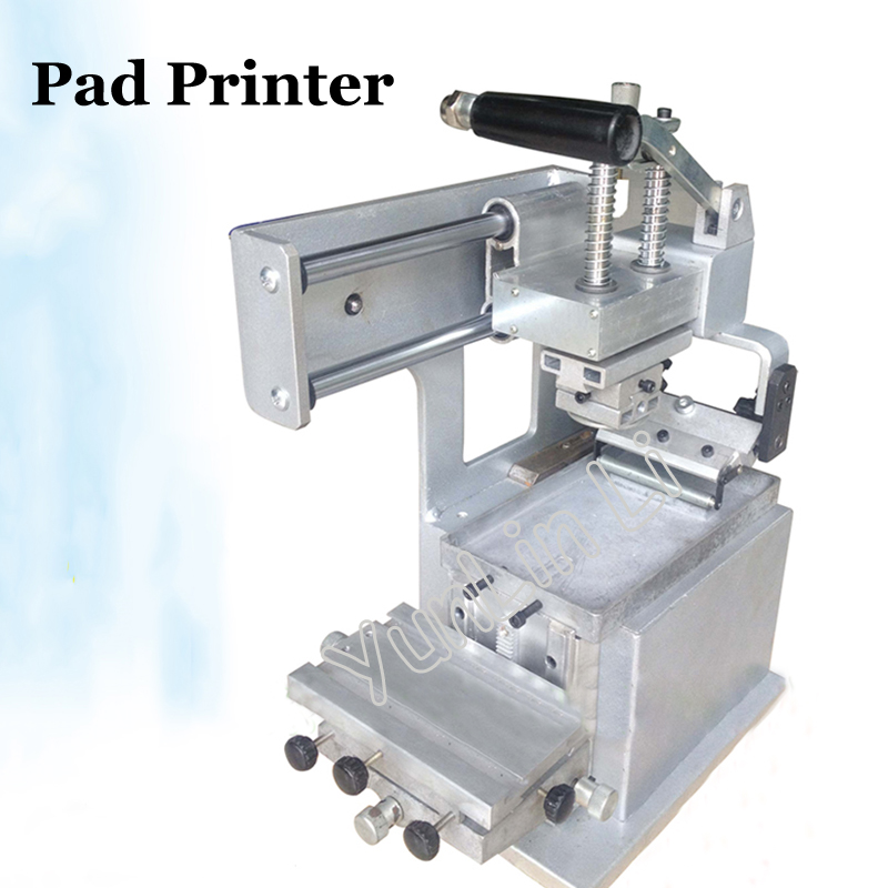 Manual Pad Printing Machine JYS100-150 start up kits: Pad printer + rubber pads + 2 custom plate dies
