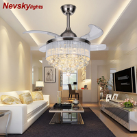 Crystal Ceiling Fans With Lights Folding Ceiling Fan Remote Control Ceiling Light Fan Lamp ventiladores de techo con luz