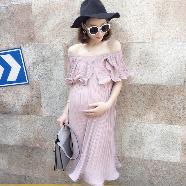 2017 primavera blusa de renda camisas de maternidade maternidade foto fotografar grávidas vestidos de maternidade em torno do pescoço completo manga rendas de croché