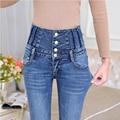 2016 Jeans Womens High Waist Elastic Skinny Denim Long Pencil Pants Plus Size 34 Woman Jeans Camisa Feminina Lady Fat Trousers