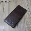 MARRANT New Business Men's Wallets 100% Genuine Leather Long Wallet Portable Cash Purses Casual Standard Wallets Male Clutch Bag