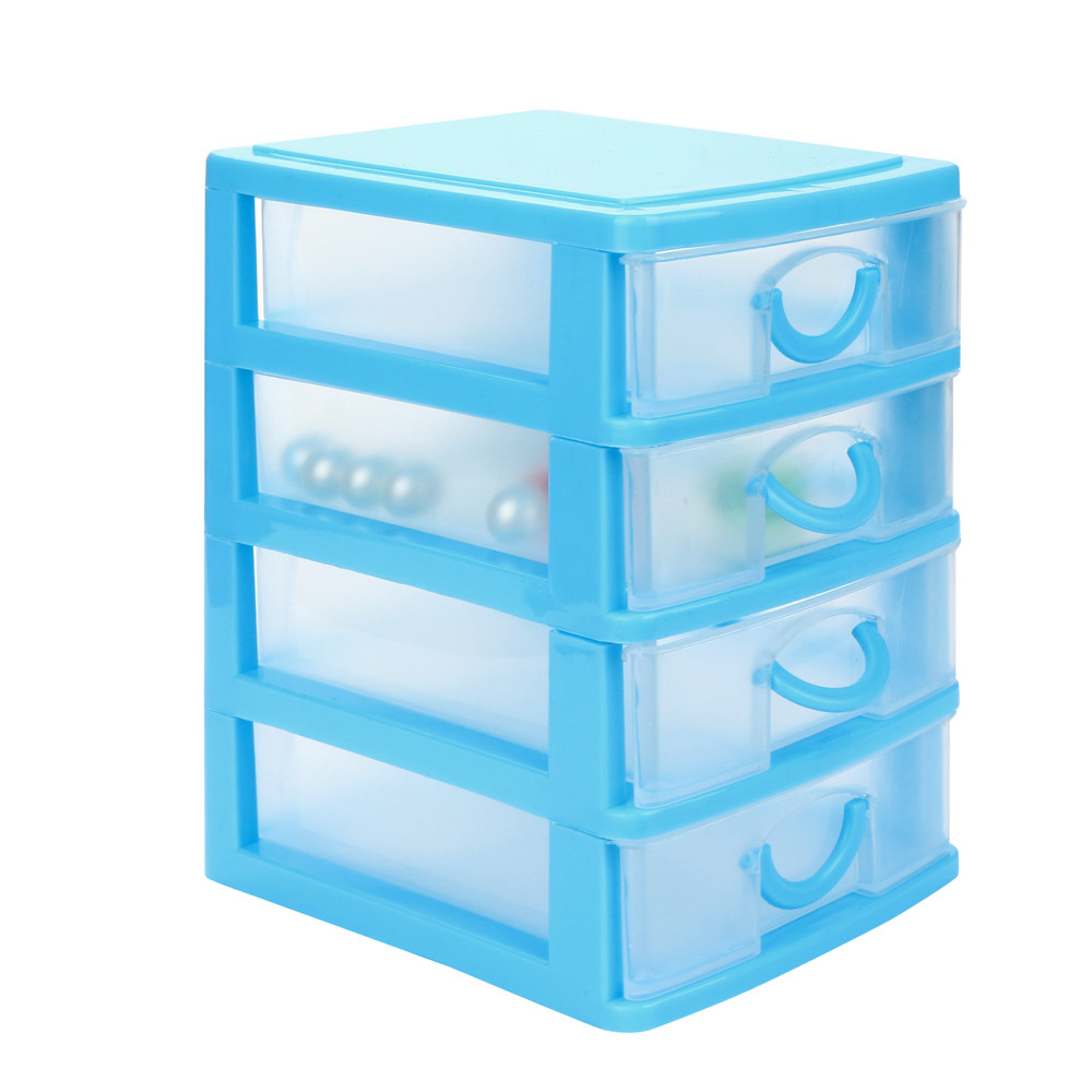 Durable Plastic Mini Desktop Drawer Sundries Case Small