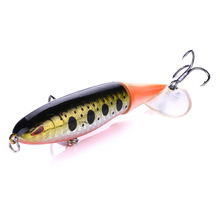 YUZI Fishing Lure Whopper Popper 10cm/13.2g Topwater Artificial Bait Hard Plopper Soft Rotating Tail Tackle Hooks