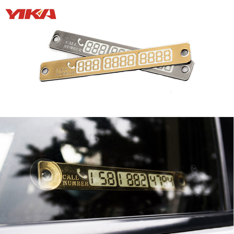 1PCS Car Styling Luminous Temporary Parking Card Phone Number Card Plate