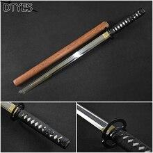 Katana Espada Samurai Japonesa High Manganese Steel Espada Katana Samurai Handmade Alloy Tsuba Katana Sword Battle Ready