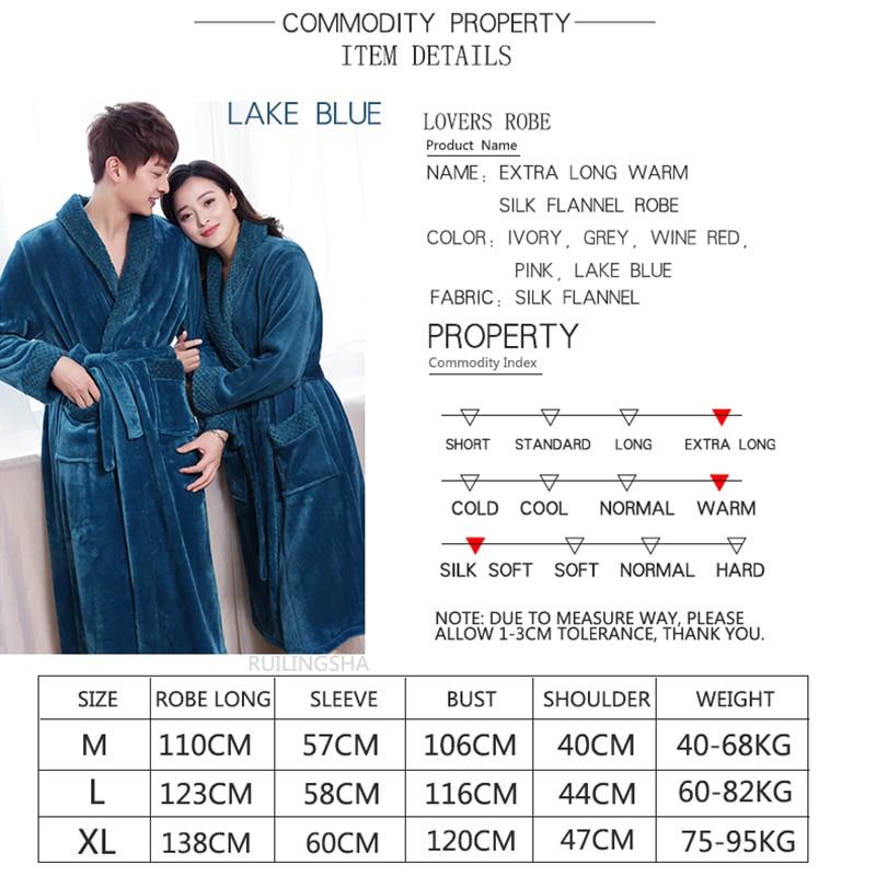 Aliexpress.com : Buy New Fashion Men\'s Extra Long Warm Bathrobe Silk ...