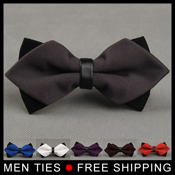 Formal Bowties Groom Mens Solid color Bow Ties Double Layer For Men Butterfly Gravata Male Business Marriage Wedding Cravat