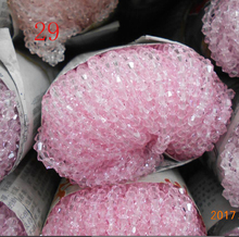 Sale Pink Color 6mm 48PCS Bicone Austria Crystal Beads charm Glass Beads Loose Spacer Bead for DIY Jewelry Making