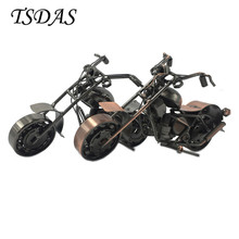 2 Colors Metal Motorcycle Model Bar Decoration Handmade Crafts Motorbike Scooter Model For Kids Birthday Gift(China)