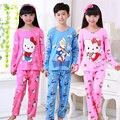 Pijamas niños de Dibujos Animados Niños Niñas Ropa de Dormir Pijamas Niños Conjuntos de Pijamas homewear Ropa de Ocio Para El Bebé precio Comercial 3-12 año