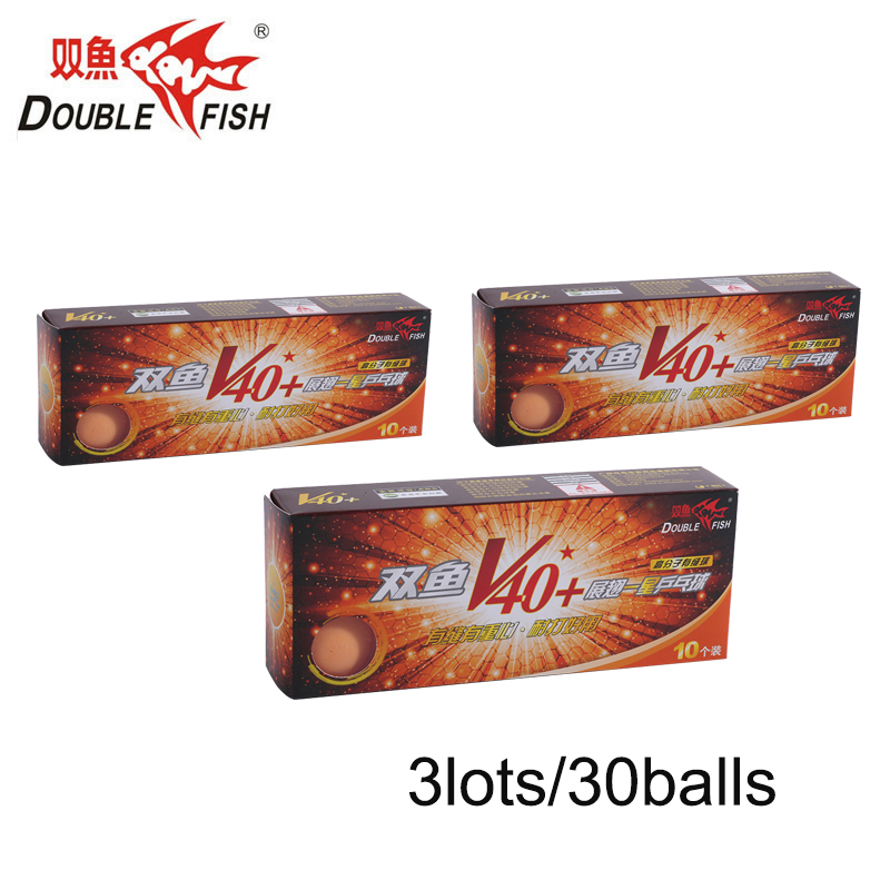 Genuine 30balls DOUBLE FISH Volant V40+ One Star Table Tennis Balls  ABS Polymer Ping Pong Ball Approve By ITTF Training Ball