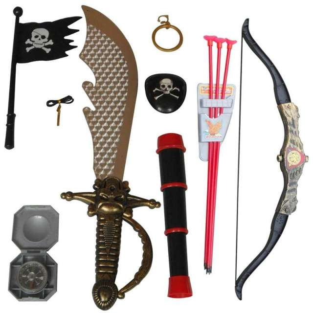 Target Toys For Boys Swords : Children simulation toys bow and arrow with flag telescope