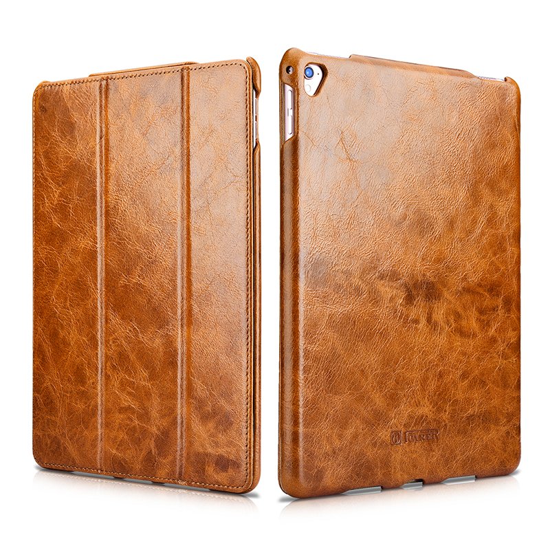 цена на Luxury Genuine Leather Smart Case For iPad Pro 9.7 Cover Magnetic Auto Wake Flip Stand Case For iPad Pro 9.7 inch 2016 Released