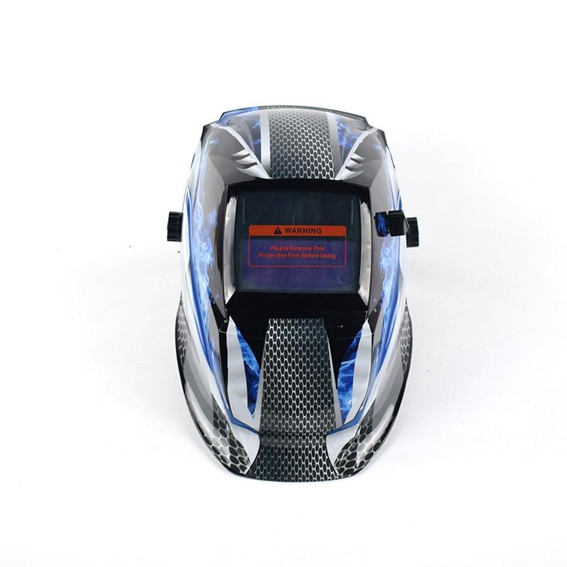 Large window Solar automatic photoelectric welding mask head-mounted welding cap argon arc welding helmet anti-UV infrared glare