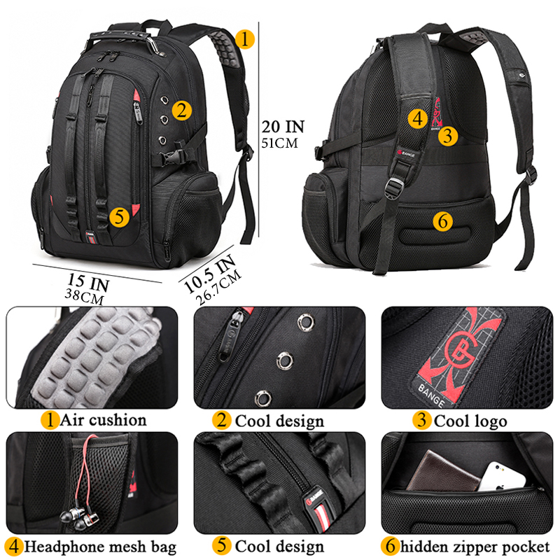 15.6 Anti-Theft Laptop Backpack  - Durable 45L S Strap Design 5