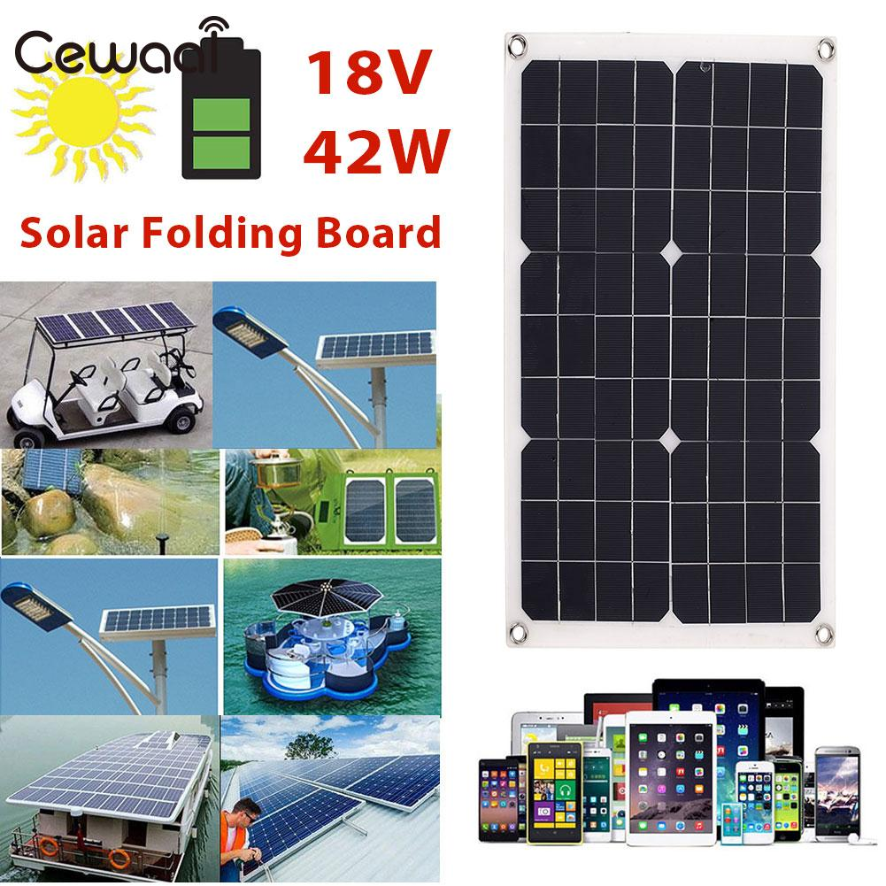 Portable Folding Solar Pane Phone Charger Solar Generator Solar Charging Emergency Power Supply 42W 18V Durable 12w dual usb folding solar charger solar panel module power bank outdoor emergency cell phone charger voltage current display