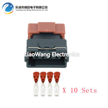 цена 10  Sets 4 Pin Female DJ7045Y-3-21 Mass Air Flow Sensor Connector AMP Tyco Plug Electrical Sealed Auto Connector 4P онлайн в 2017 году