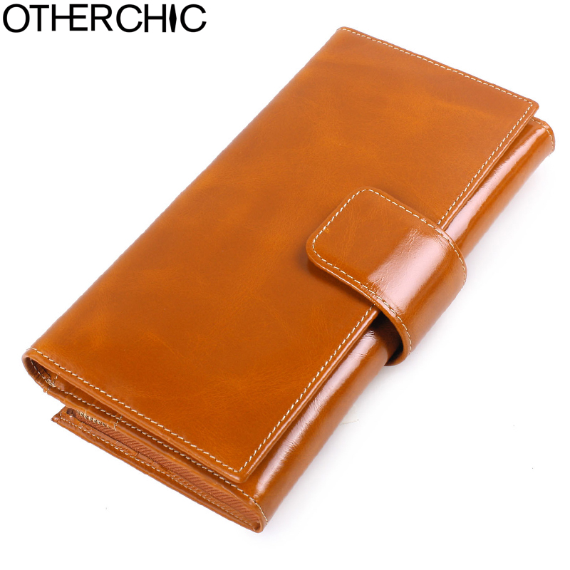 OTHERCHIC Cow Leather Fashion Wallets Women Wallets Genuine Leather Hasp Wallet Coin Purse Women Portefeuille Purses