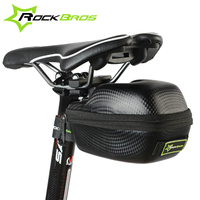 ROCKBROS Carbon Pattern Waterproof Outdoor Sports Bike Bicycle Ciclismo Seatpost Cycling Cycle Portable Saddle Bag Case