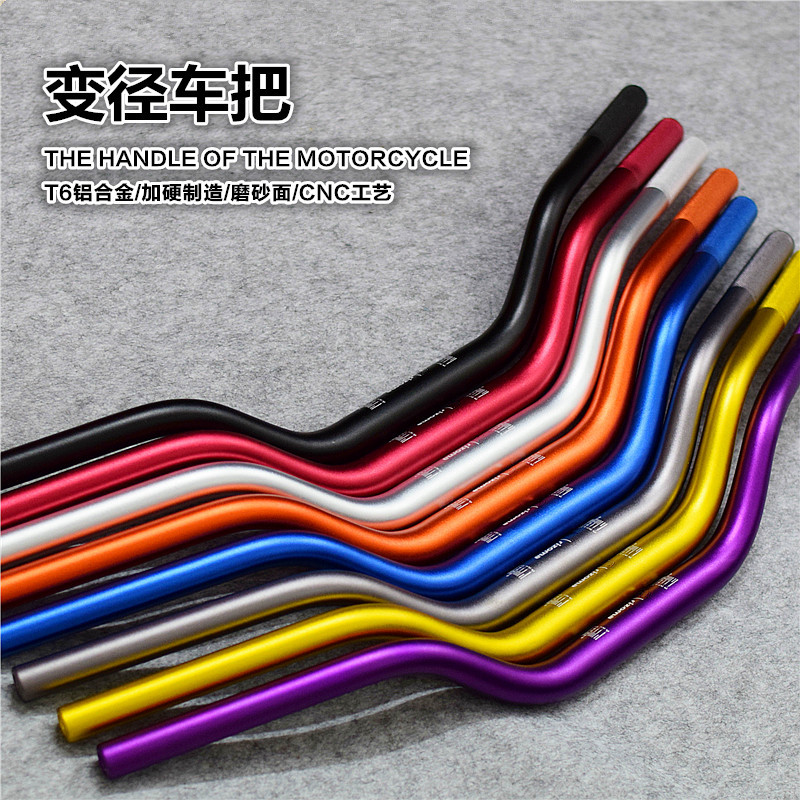 Motorcycle Handlebar 22mm/28mm Aluminum Alloy For Honda Yamaha Kawasaki Suzuki Dirt Bike Scooter Modify motorcycle handlebar 22mm 7 8 black motorbike dirt trail bike for honda kawasaki yamaha suzuki harley chopper bobber