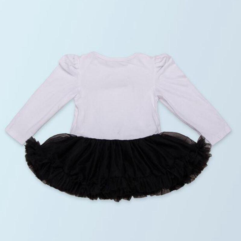 Black Swan Long Sleeve Baby Girl Clothes Lace Romper Dress Headband Leg Warmers Crib Shoes Newborn Tutu Sets Infant Clothing