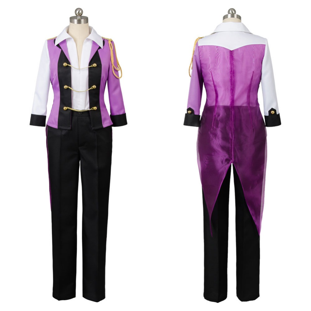 2017 Anime Yuri on Ice Cosplay Victor Nikiforov Suit for Men Halloween Party Show Costumes Any Size Custom Made