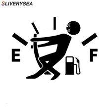 12.7*9.2 CENTÍMETROS Decalque Medidor de Combustível Vazio Adesivos Engraçado JDM Adesivos de Carro E Decalques de Vinil Estilo Do Carro Preto/ sliver # B1361