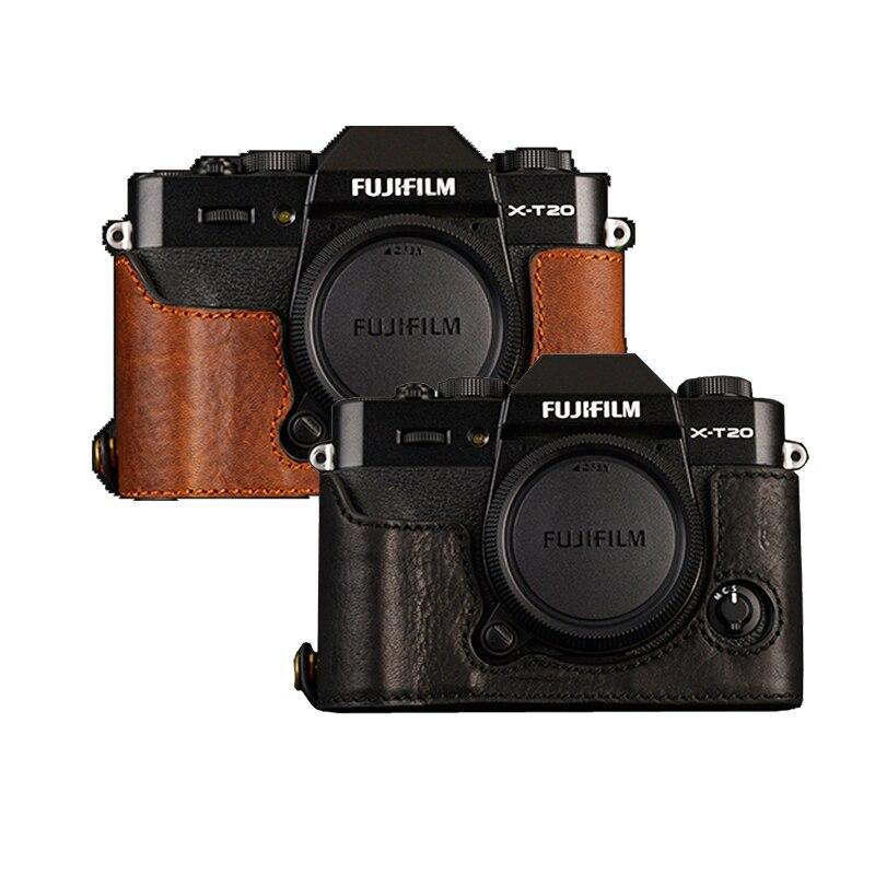 AYdgcam Genuine Leather Camera case Half Body For Fujifilm XT10 XT20 Fuji XT20 XT30 Handmade Camera Bag Cover Vintage CaseAYdgcam Genuine Leather Camera case Half Body For Fujifilm XT10 XT20 Fuji XT20 XT30 Handmade Camera Bag Cover Vintage Case