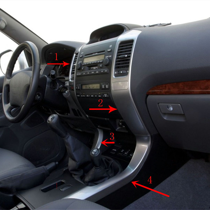For Toyota Prado 2003-09 Year LC120 Instrument Center Ventilation Air Conditioning Outlet Vents Chrome Trim