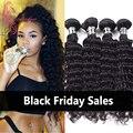Peruvian Virgin Hair Deep Wave 4 Bundles Unprocessed Virgin Human Hair Curly Weave Mocha Hair Products Deep Wave Ali Julia Hair