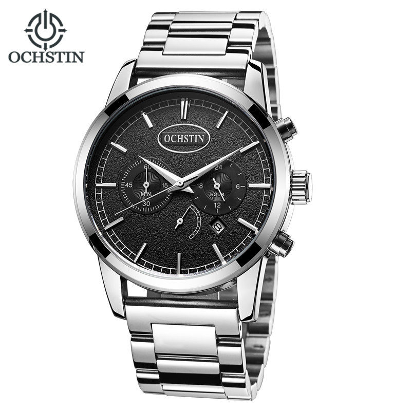 OCHSTIN Men Watches Luxury Brand Fashion Sports Military Stainless Steel Quartz-Watch Male Clock Chronograph Relogio Masculinon top brand luxury chronograph men sports watches stainless steel quartz watch men army military wrist watch male mini focus clock