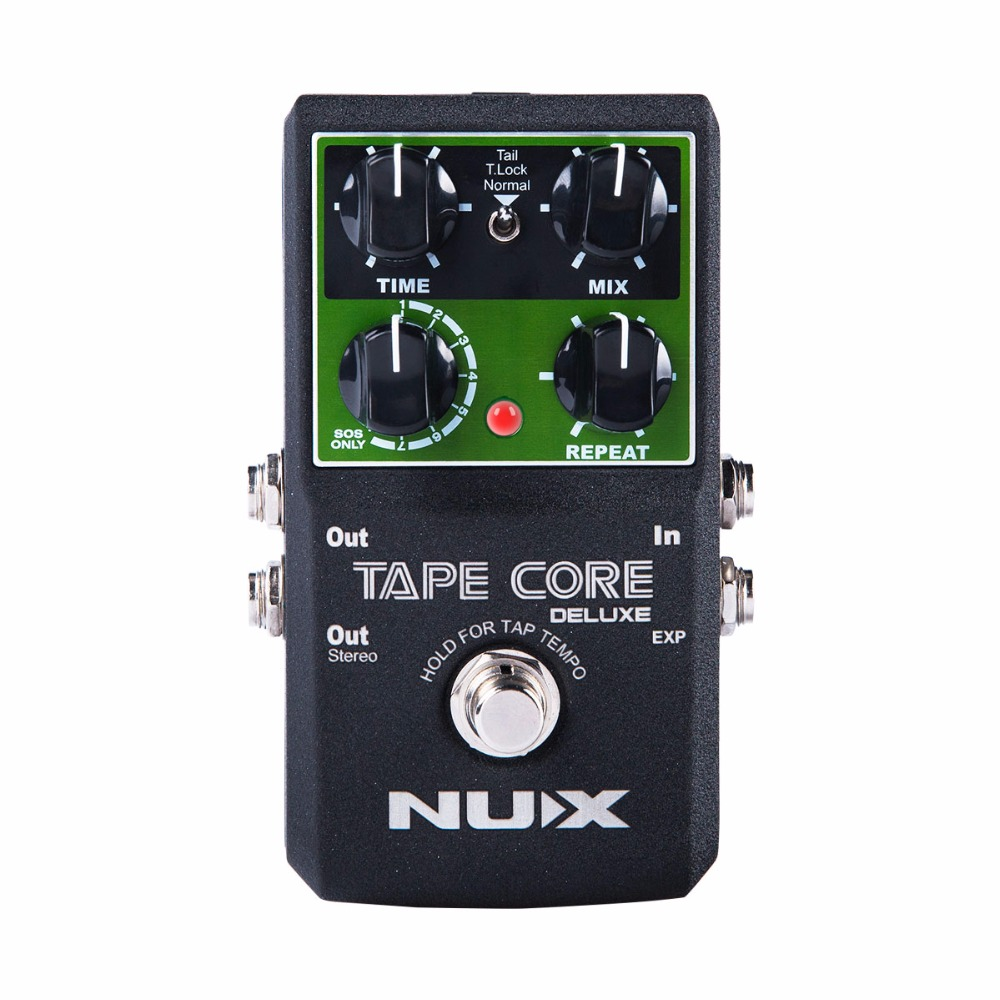 buy new nux tape core deluxe tape echo delay effects pedal classic tape echo. Black Bedroom Furniture Sets. Home Design Ideas