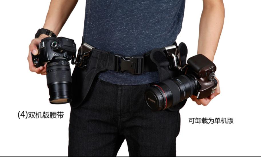 double Camera Quick Release Waist Belt Holder Buckle Hanger + Plate Spider For Canon Nikon Sony pentax camera belt clip fast loading holster metal hanger waist belt buckle button mount clip for dslr camera carry tools brand new