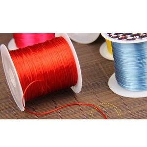 25 рулонов/Лот, 1 мм * 0,3 мм, разноцветная эластичная веревка для бисероплетения, нить для изготовления браслетов своими руками, 10 м/рулон HK037 Ювелирная фурнитура и компоненты      АлиЭкспресс