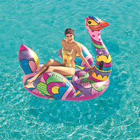 1.9M Flamingo Inflatable Swimming Float Giant Ride On Schwimmtier Pop Ostrich Pool Floating Swimming Ring Summer Water Pool Toys