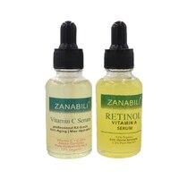 Zanabili reine retinol vitamin a 2.5% + 30% vitamin c + E 100% HYALURONSÄURE Gesichts Serum Anti-Aging Feuchtigkeits Gesicht creme