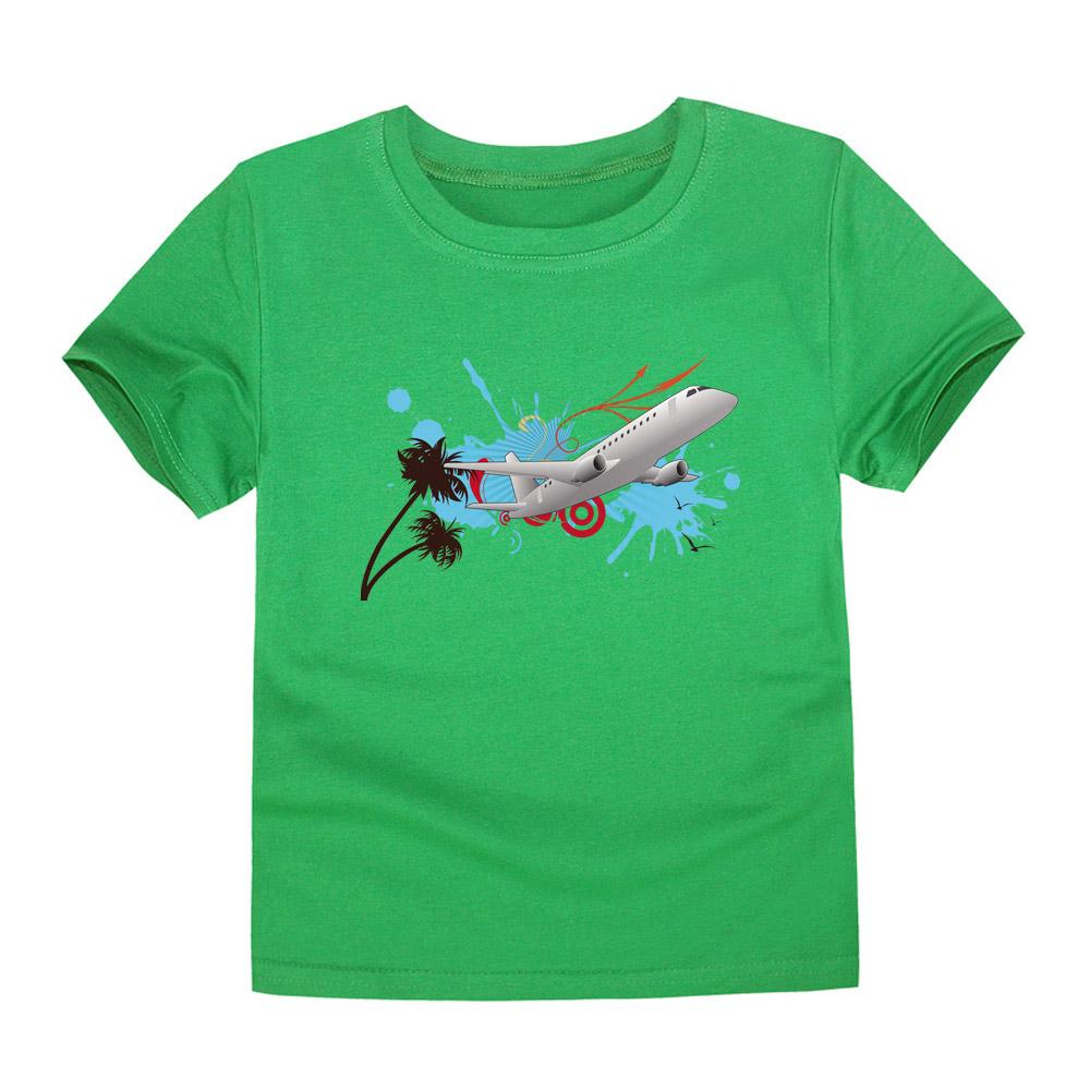 HTB1.iWpQVXXXXa XXXXq6xXFXXXx - CHUNJIAN 2017 children t shirts for girls boys cotton t shirt girls T-Shirt kids t shirts summer Tops & Tees kids plane shirt