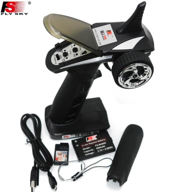 flysky FS GT2B FS GT2B 2.4G 3CH Gun RC Controller /w receiver, TX battery, USB cable, handle   Upgraded FS GT2 GT2