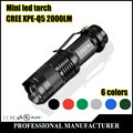 Mini LED Flashlight  High-quality  CREE Q5 2000LM Waterproof LED Laterna 3 Modes Zoomable PortableTorch penlight