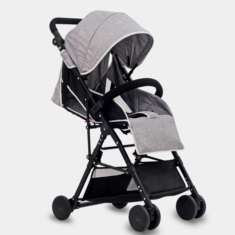 High landscape ultra-lightweight baby stroller can sit reclining folding lightweight baby cart child umbrella car summer
