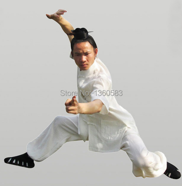 Custom 4colors Chinese Wudang Tai chi Uniform Wing chun Training Suit Martial arts Clothes kung fu wushu clothing free shipping new pure linen retro men s wing chun kung fu long robe long trench ip man robes windbreaker traditional chinese dust coat