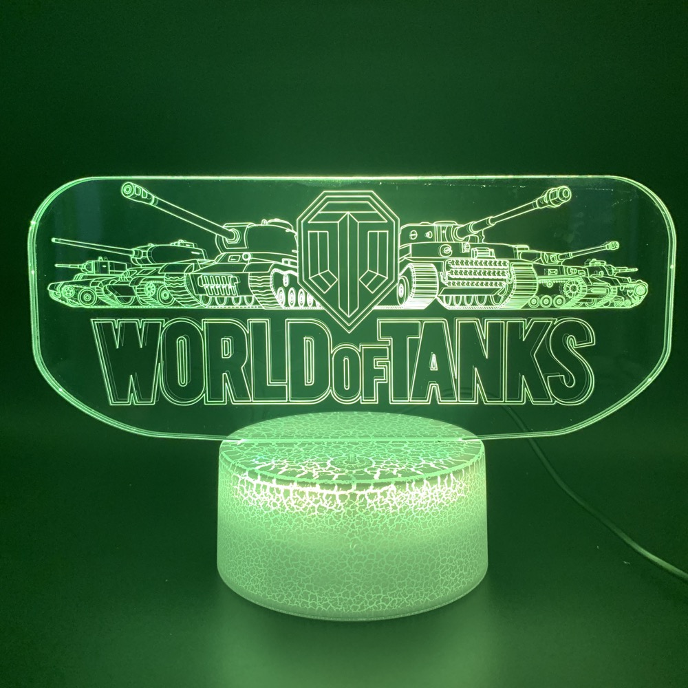 Cool Novelty Light 3d Lamp Game World Of Tanks Office Bed Room Decorative Child Kids Boy Birthday Gift 3d Led Night Light Lamp