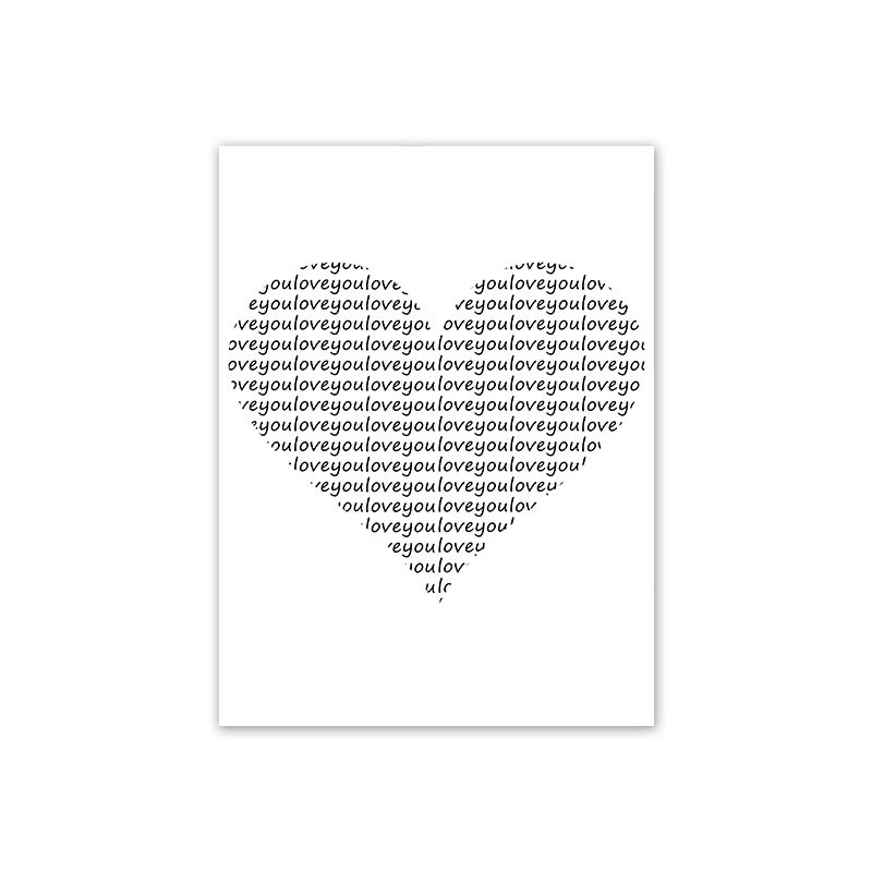 HTB1.iXEelCw3KVjSZFuq6AAOpXa8 Scandinavian Style Love Poster Black and White Canvas Painting Amore Wall Pictures For Living Room Nordic Decoration Home Art